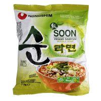 SOON VEGGIE RAMYUN vegetarianské instantné rezance NONGSHIM 112 g