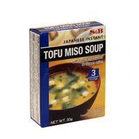 MISO polievka s Tofu, wakame riasami a jarnou cibuľou S&B 30g