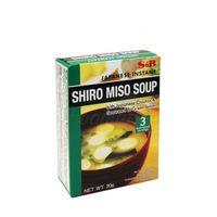 SHIRO MISO polievka s japonskými krutónmi, wakame riasami a zelenými cibuľkami S&B 30g