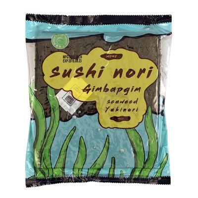Yaki nori morské riasy na sushi GIMBAPGIM NATURE BEST HARVEST 50 listov