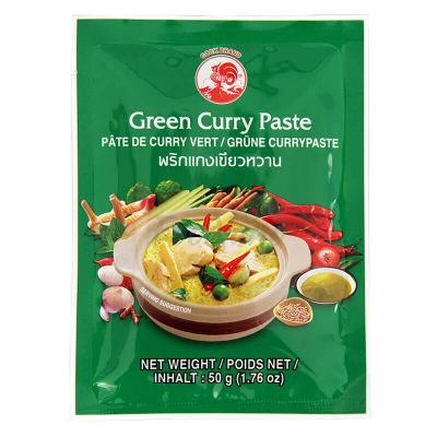Zelená kari pasta - COCK BRAND - 50 g